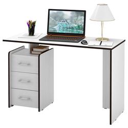 Стол письменный Слим-2, прямой белый