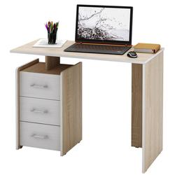 Стол письменный Слим-1, прямой дуб сонома / белый