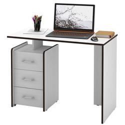 Стол письменный Слим-1, прямой белый