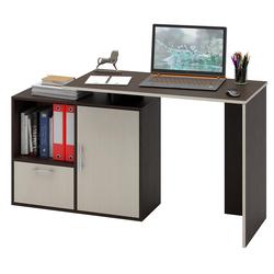 Стол письменный Слим-3, прямой/угловой венге / дуб молочный