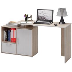 Стол письменный Слим-4, прямой/угловой дуб сонома / белый