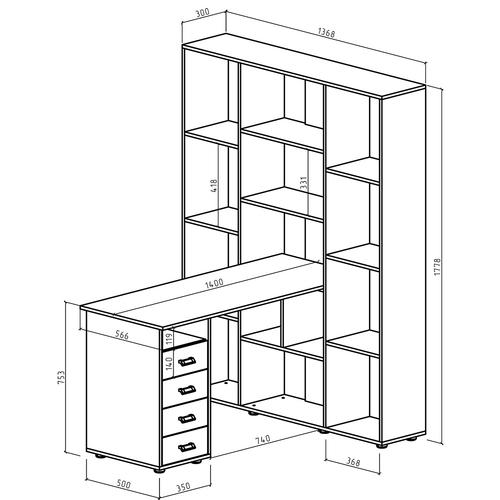 Компьютерный стол Оксфорд-3