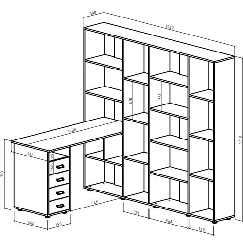 Компьютерный стол Оксфорд-5