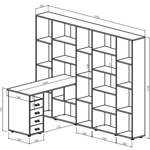 Компьютерный стол Оксфорд-6
