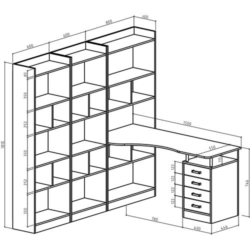 Стол-стеллаж Атлант-2866
