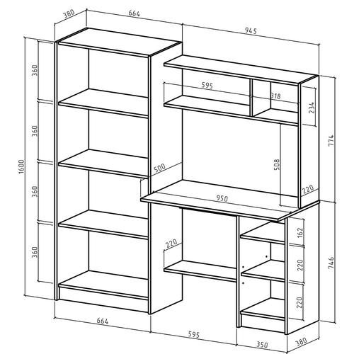 Компьютерный стол Август-13